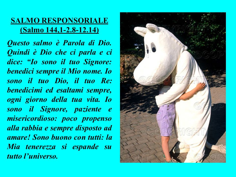 SALMO RESPONSORIALE (Salmo 144,1-2.8-12.14)