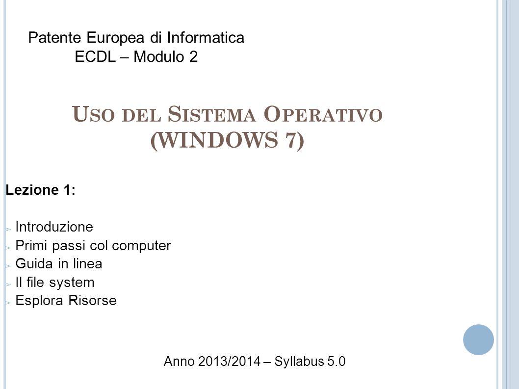 Uso del Sistema Operativo (WINDOWS 7)