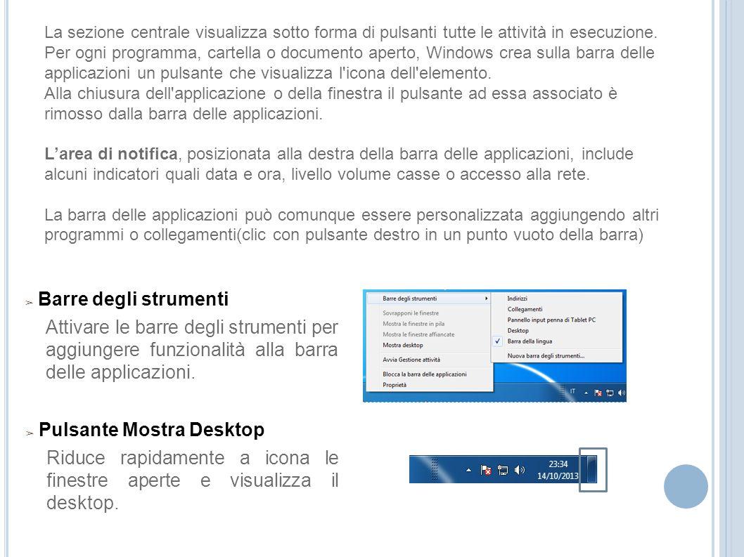 Pulsante Mostra Desktop