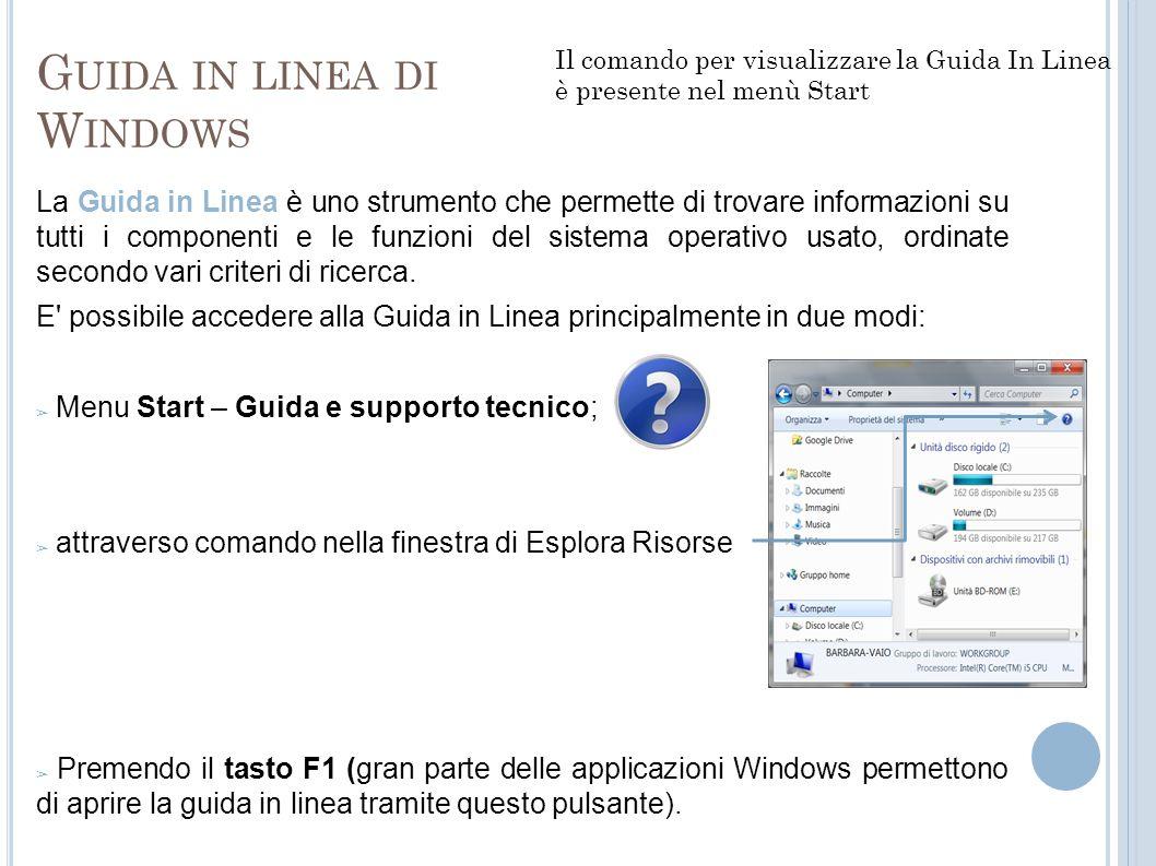 Guida in linea di Windows