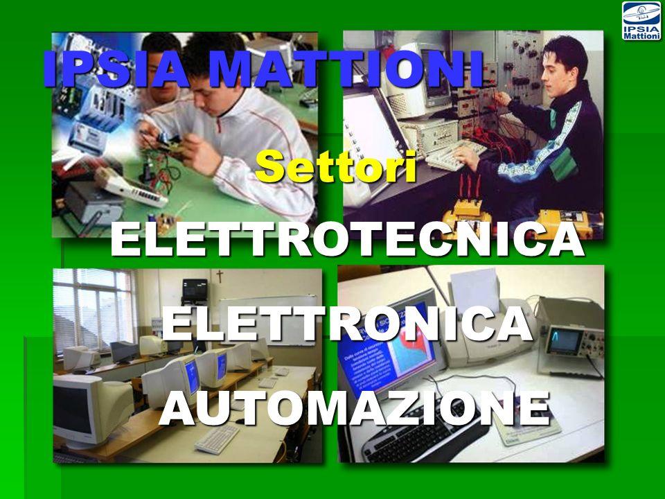 IPSIA MATTIONI Settori ELETTROTECNICA ELETTRONICA AUTOMAZIONE