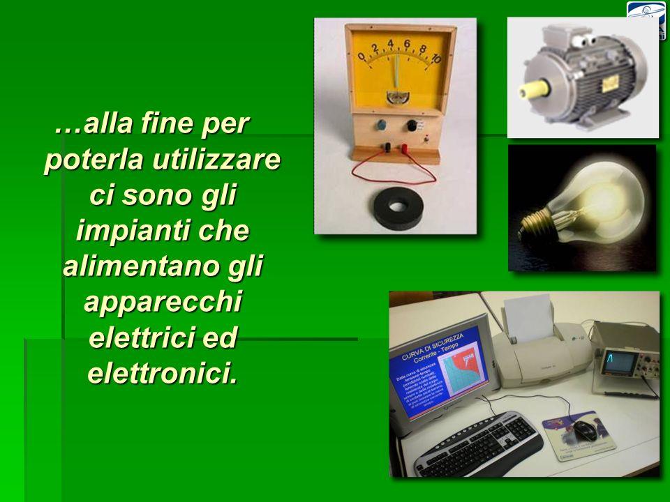 …alla fine per poterla utilizzare ci sono gli impianti che alimentano gli apparecchi elettrici ed elettronici.