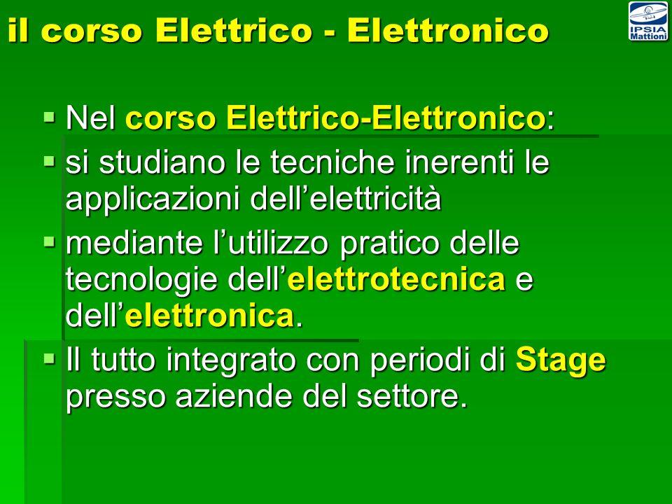 il corso Elettrico - Elettronico
