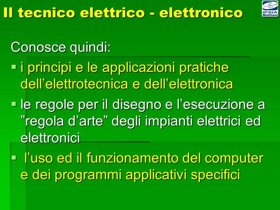 Il tecnico elettrico - elettronico