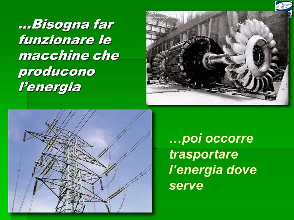 …Bisogna far funzionare le macchine che producono l'energia