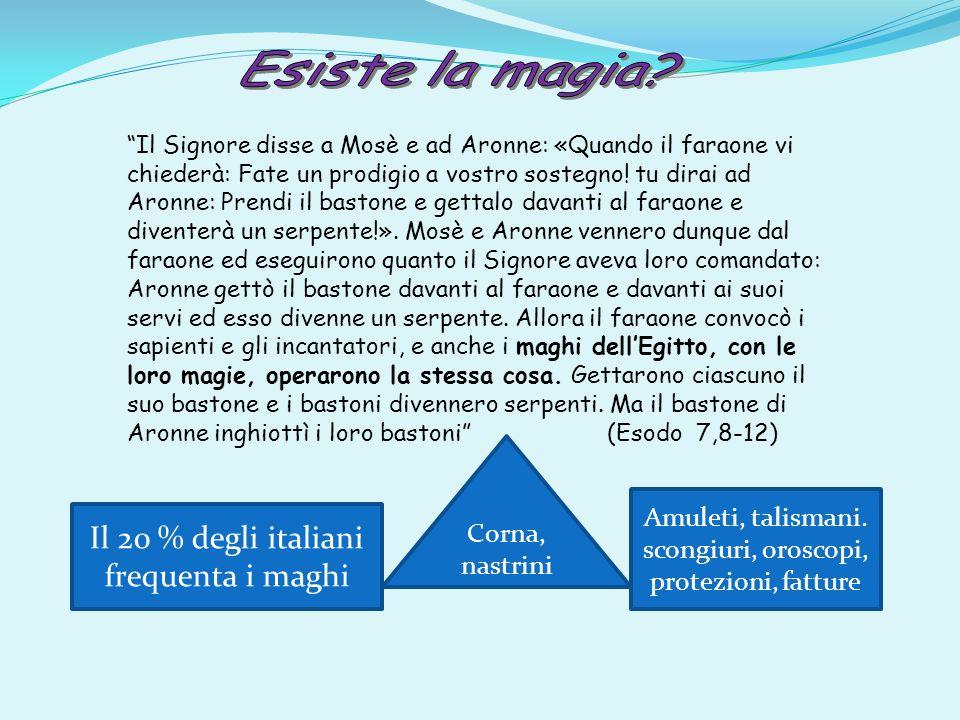 Il 20 % degli italiani frequenta i maghi