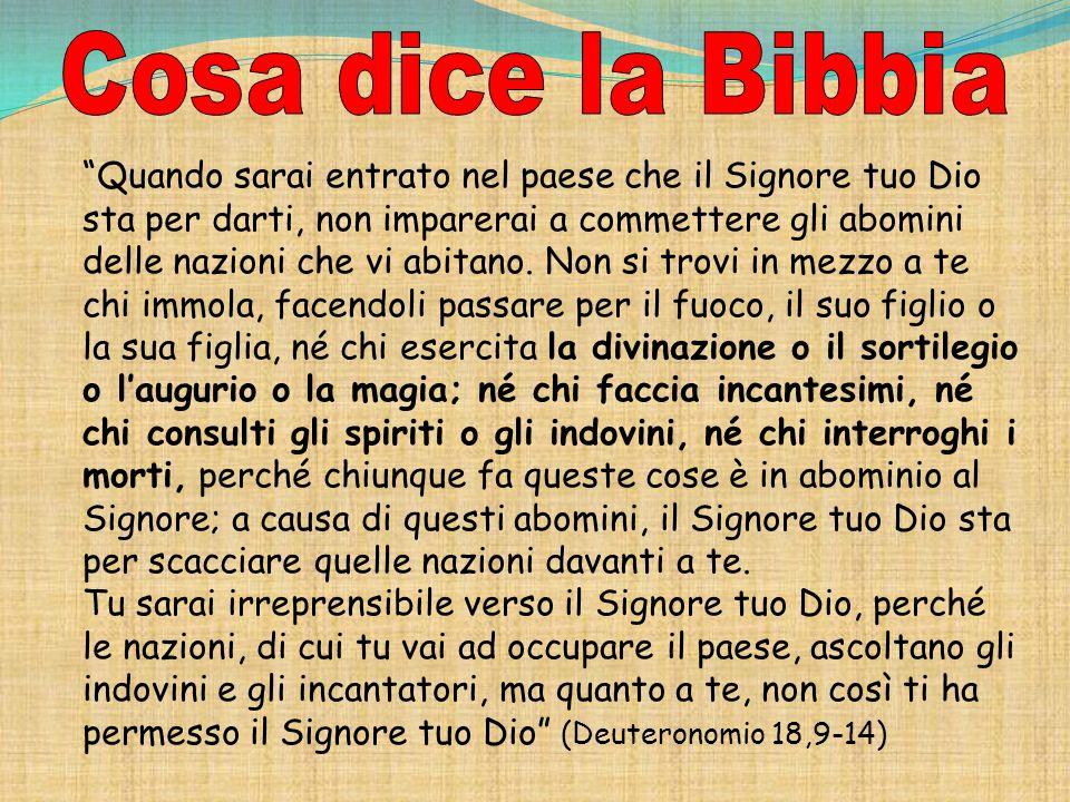 Cosa dice la Bibbia