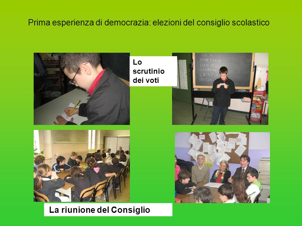 Prima esperienza di democrazia: elezioni del consiglio scolastico