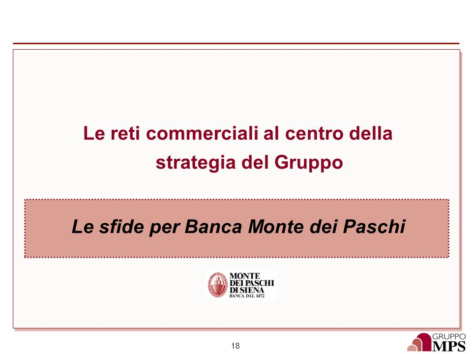 Le reti commerciali al centro della strategia del Gruppo