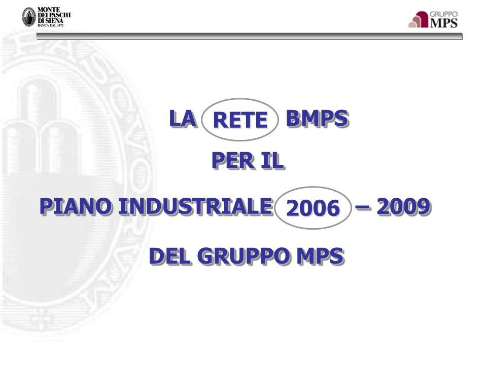 RETE LA BMPS PER IL 2006 PIANO INDUSTRIALE – 2009 DEL GRUPPO MPS