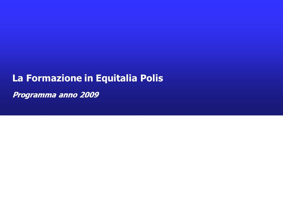 La proposta didattica Equitalia Polis 2009