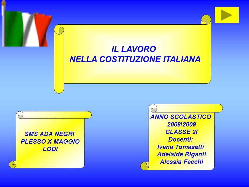 NELLA COSTITUZIONE ITALIANA