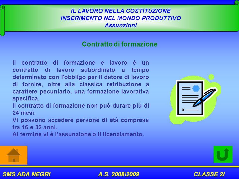 Contratto di formazione