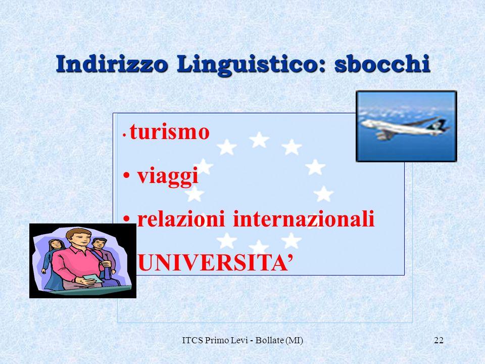 Indirizzo Linguistico: sbocchi