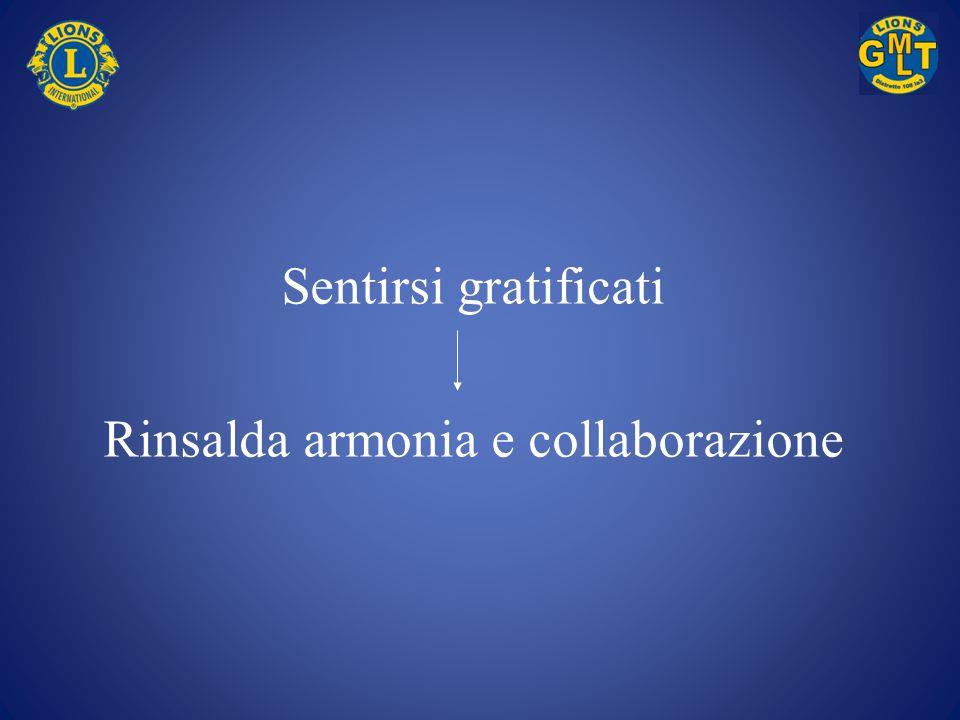 Rinsalda armonia e collaborazione