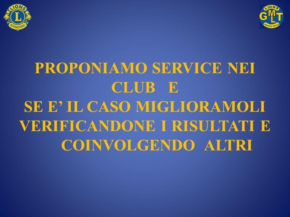 PROPONIAMO SERVICE NEI CLUB E SE E' IL CASO MIGLIORAMOLI