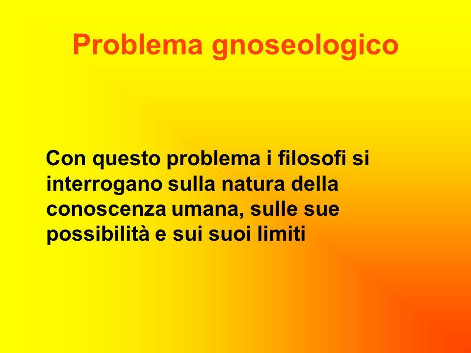 Problema gnoseologico