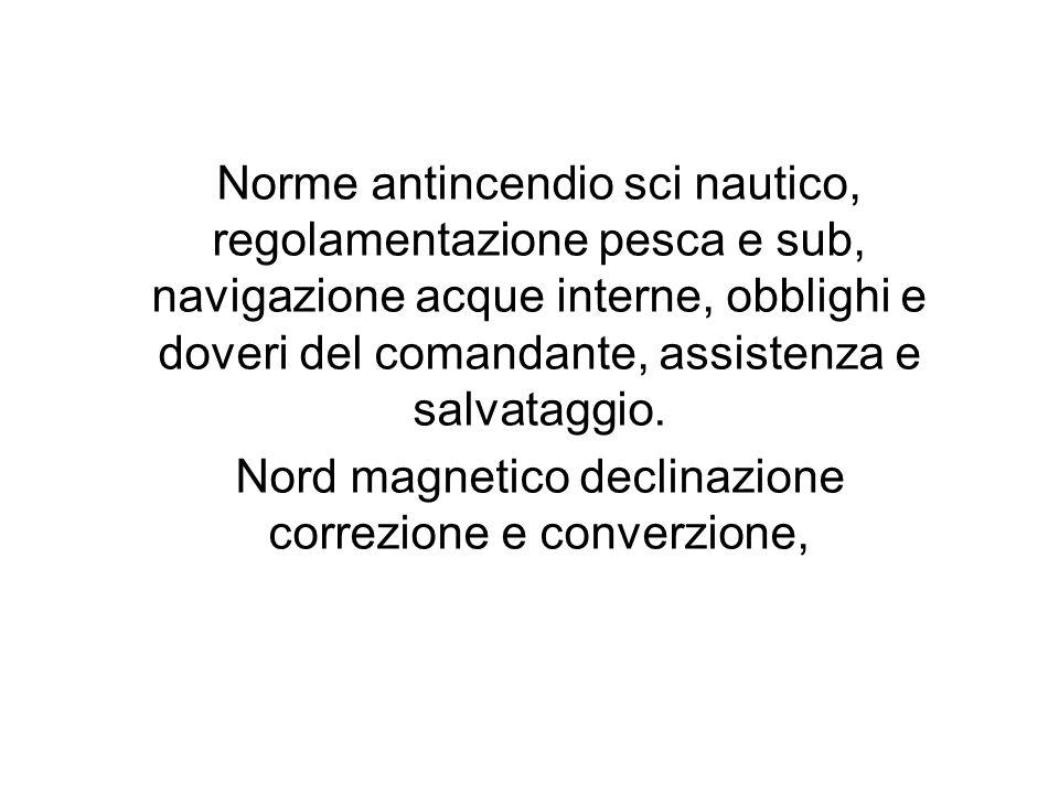 Nord magnetico declinazione correzione e converzione,