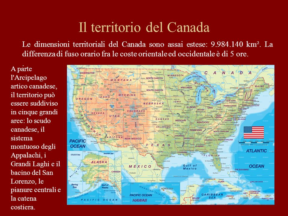 Il territorio del Canada
