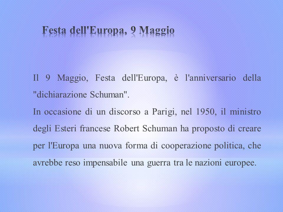 Festa dell Europa, 9 Maggio