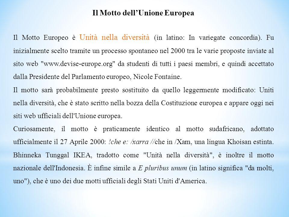 Il Motto dell'Unione Europea