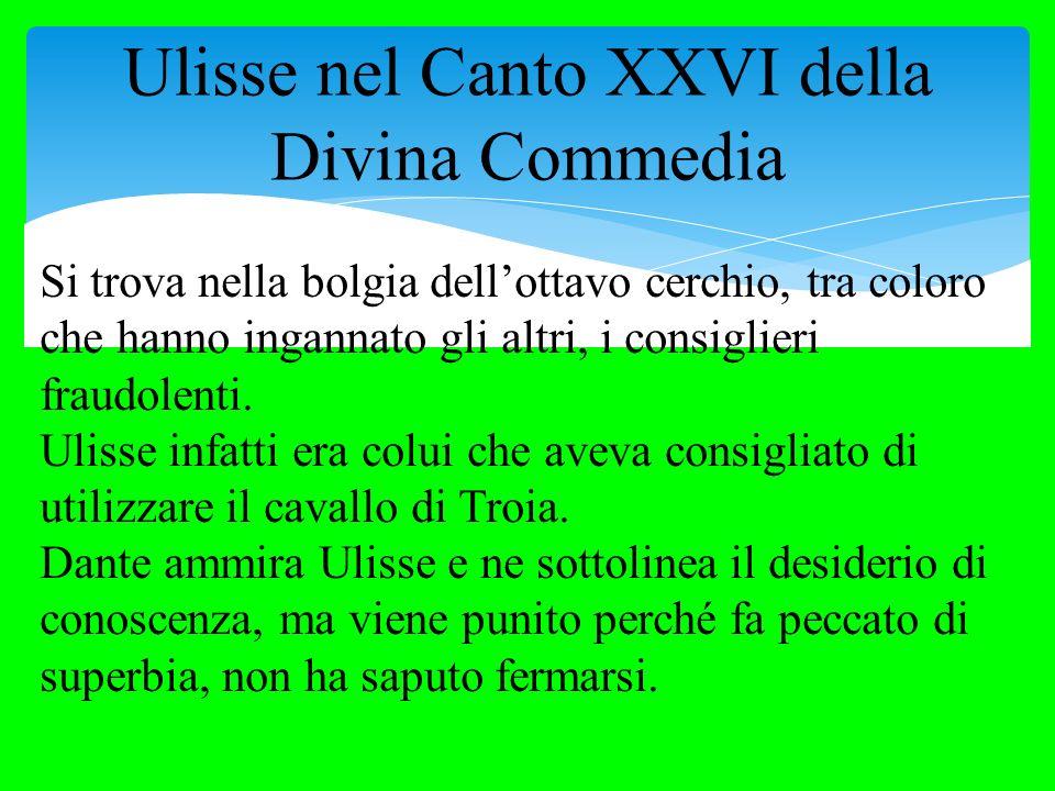 Ulisse nel Canto XXVI della Divina Commedia