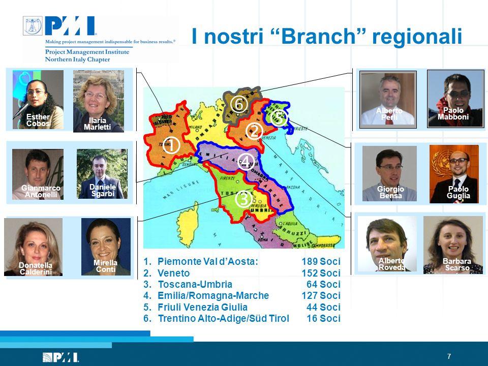 I nostri Branch regionali