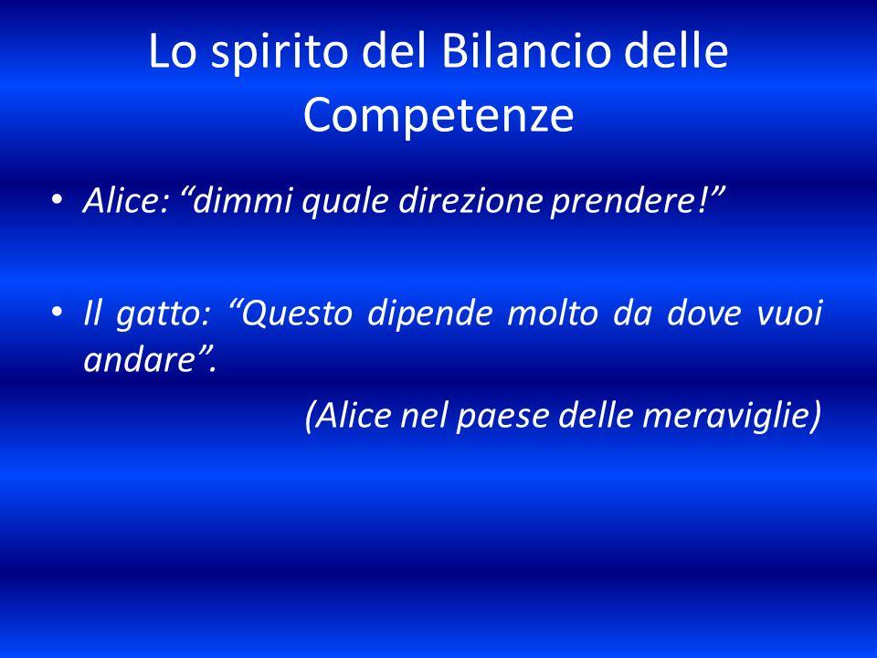 Lo spirito del Bilancio delle Competenze