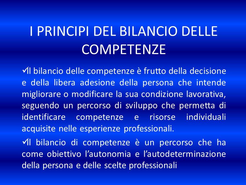 I PRINCIPI DEL BILANCIO DELLE COMPETENZE
