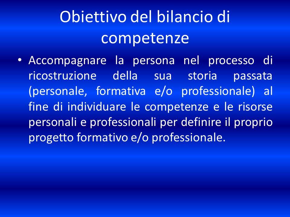 Obiettivo del bilancio di competenze