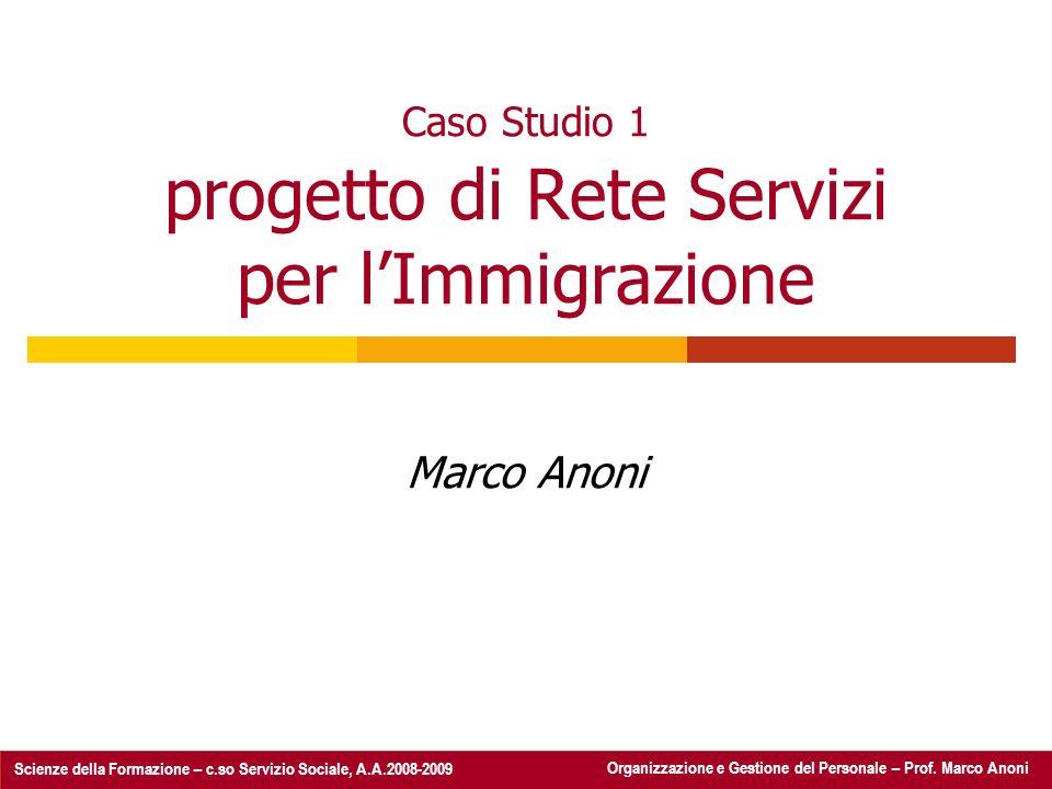 Caso Studio 1 progetto di Rete Servizi per l'Immigrazione