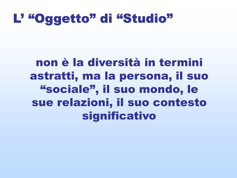 L' Oggetto di Studio
