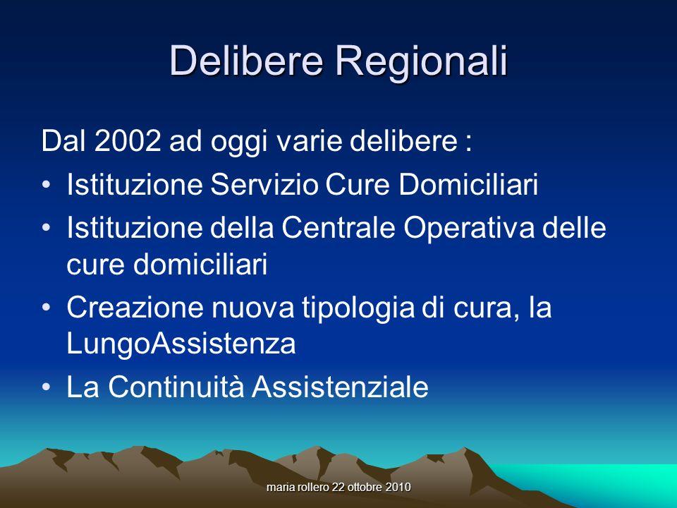 Delibere Regionali Dal 2002 ad oggi varie delibere :