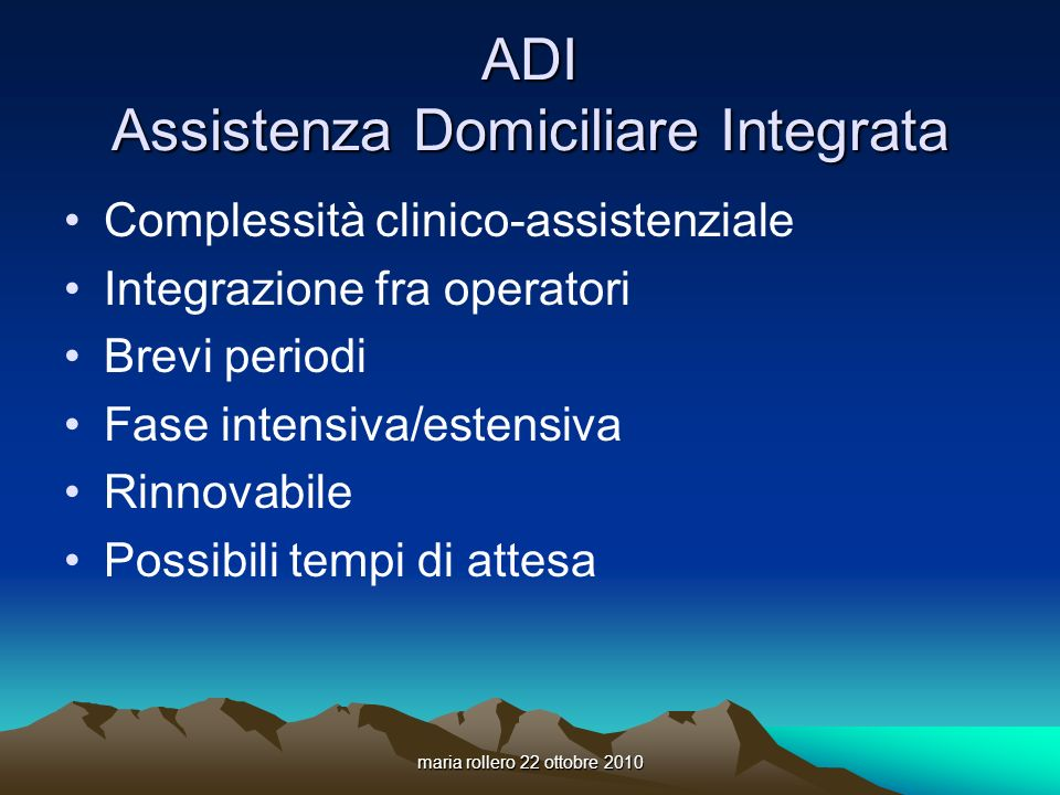 ADI Assistenza Domiciliare Integrata