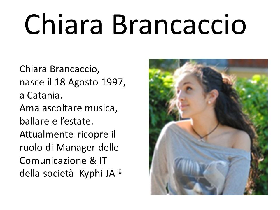 Chiara Brancaccio