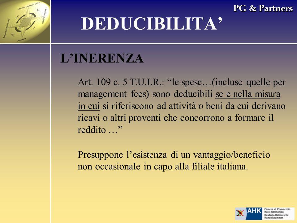DEDUCIBILITA' L'INERENZA