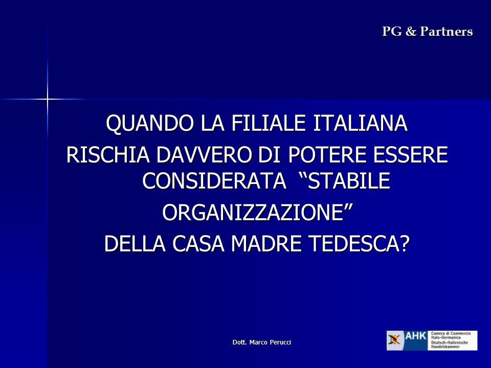 QUANDO LA FILIALE ITALIANA