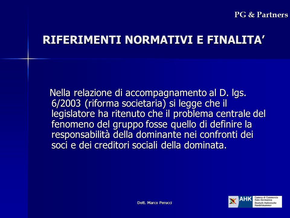 RIFERIMENTI NORMATIVI E FINALITA'