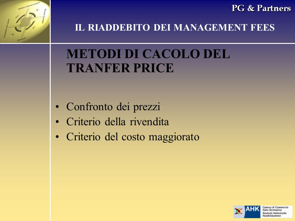 IL RIADDEBITO DEI MANAGEMENT FEES