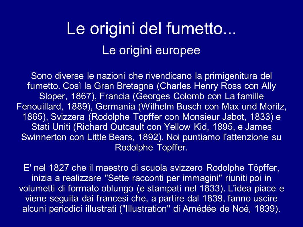Le origini del fumetto... Le origini europee