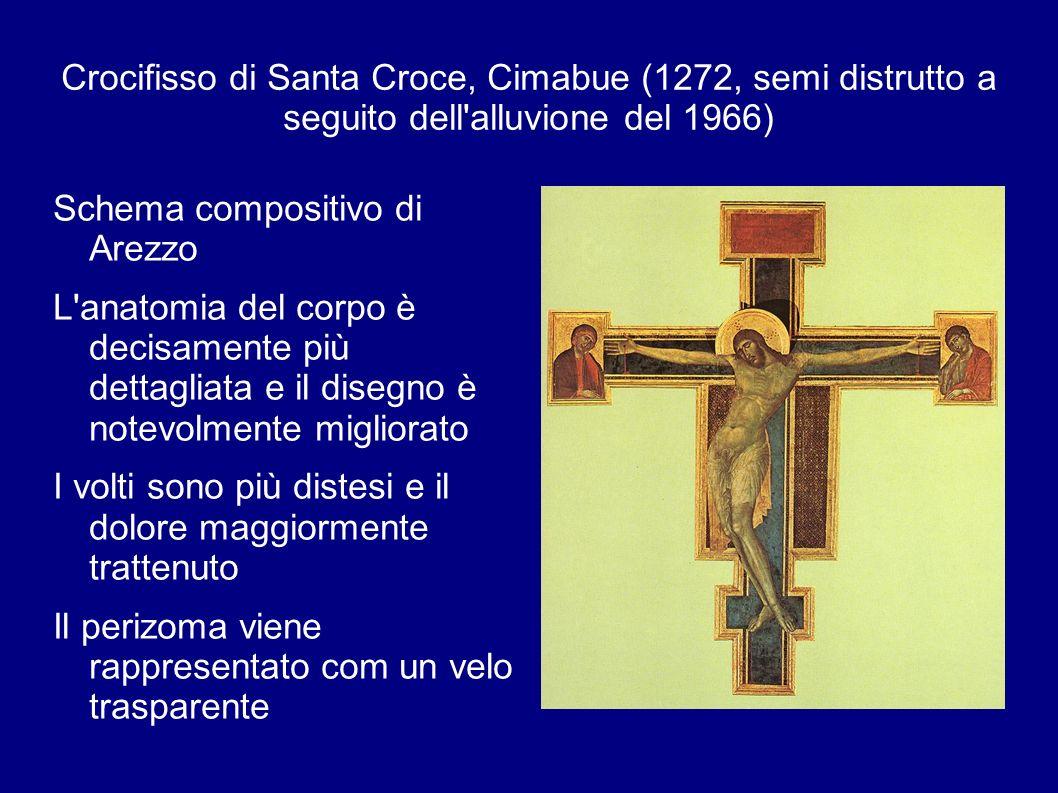 Crocifisso di Santa Croce, Cimabue (1272, semi distrutto a seguito dell alluvione del 1966)