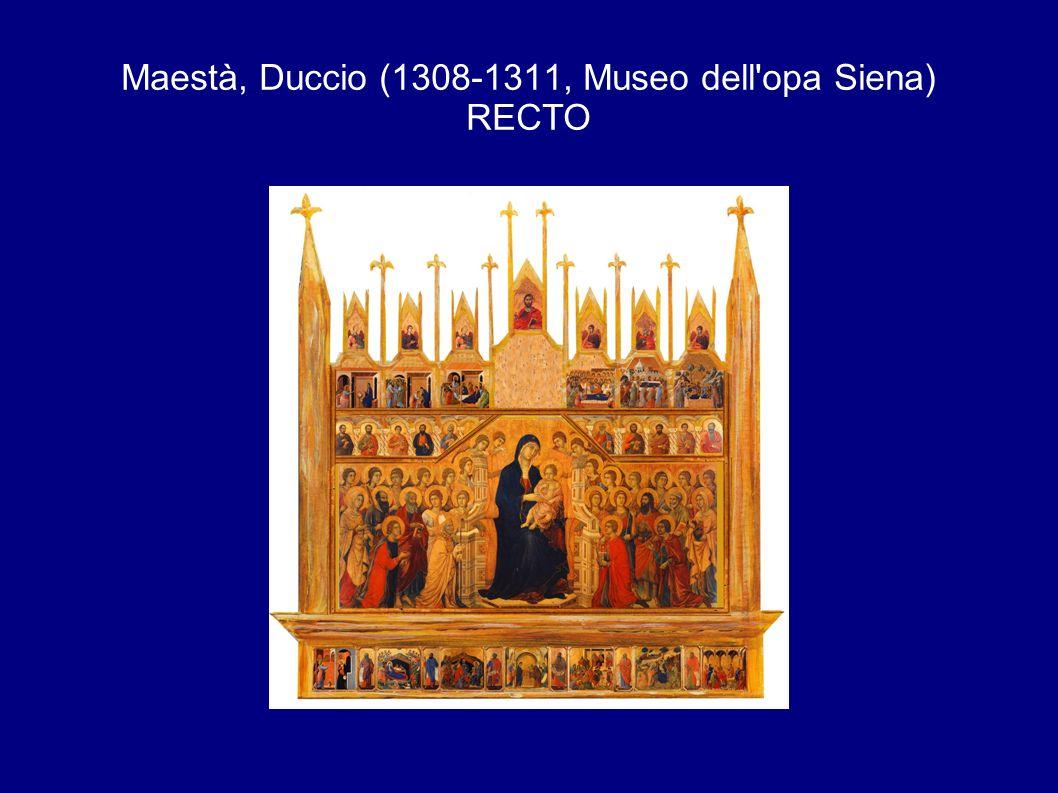 Maestà, Duccio (1308-1311, Museo dell opa Siena) RECTO