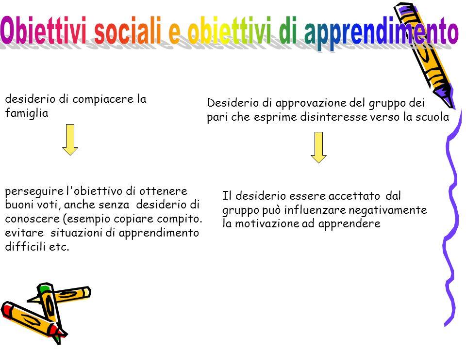 Obiettivi sociali e obiettivi di apprendimento