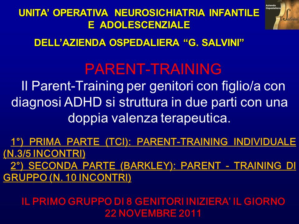 UNITA' OPERATIVA NEUROSICHIATRIA INFANTILE E ADOLESCENZIALE