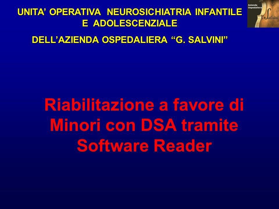 Riabilitazione a favore di Minori con DSA tramite Software Reader