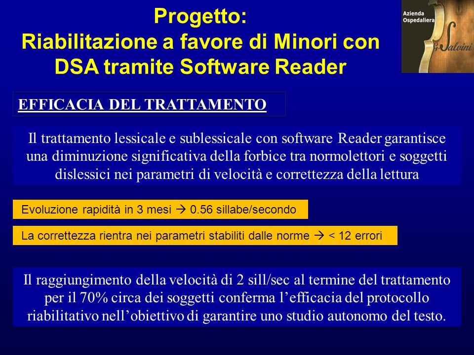 Progetto: Riabilitazione a favore di Minori con DSA tramite Software Reader