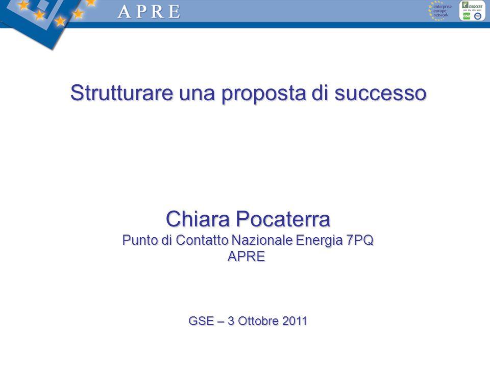 Strutturare una proposta di successo