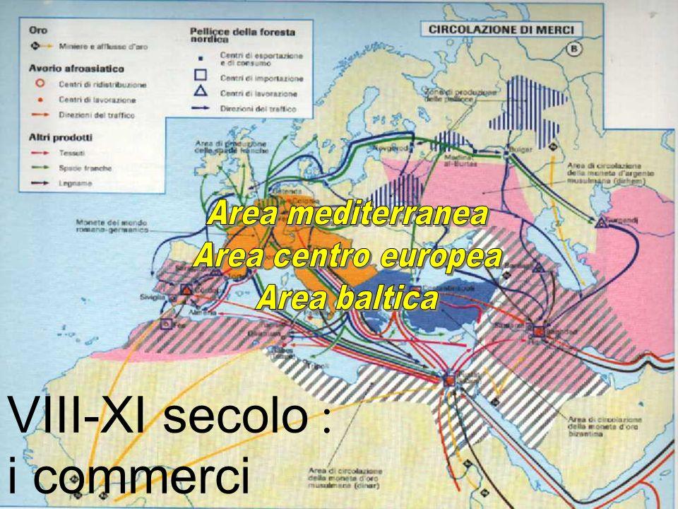 VIII-XI secolo : i commerci