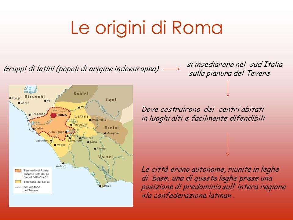 Le origini di Roma si insediarono nel sud Italia