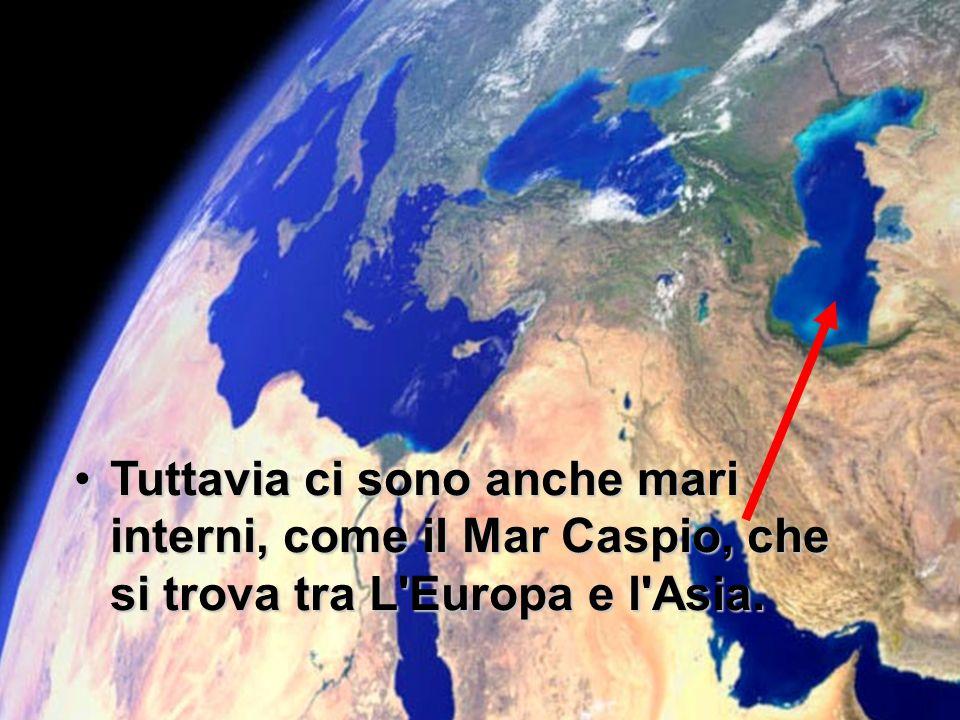 Oceano Atlantico Mar Mediterraneo. I mari come il Mar Mediterraneo, sono di solito, collegati ad un oceano.